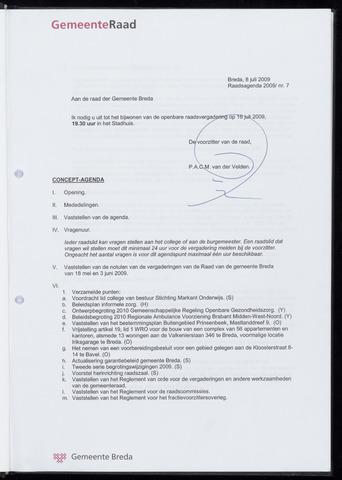 Breda - Bijlagen bij de notulen van de gemeenteraad 2009-07-16