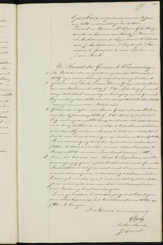 Princenhage - Notulen van de gemeenteraad 1860-01-01