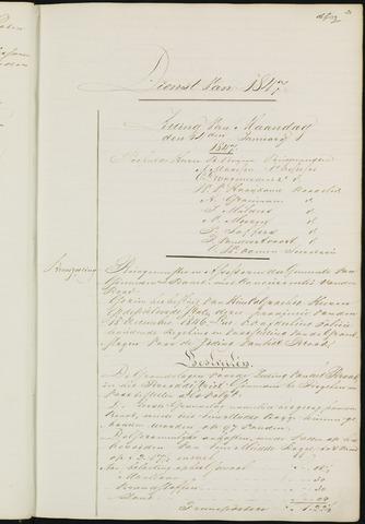 Ginneken en Bavel - Notulen van de gemeenteraad 1847-01-01