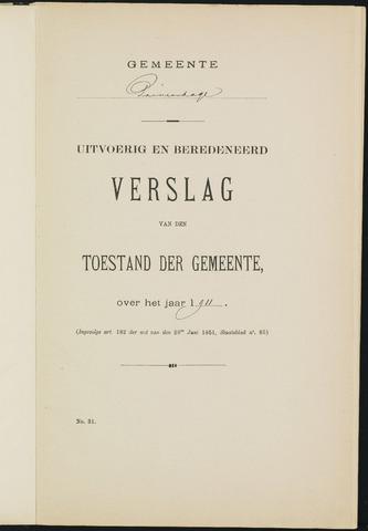 Princenhage - Verslagen van de toestand van de gemeente 1911-01-01