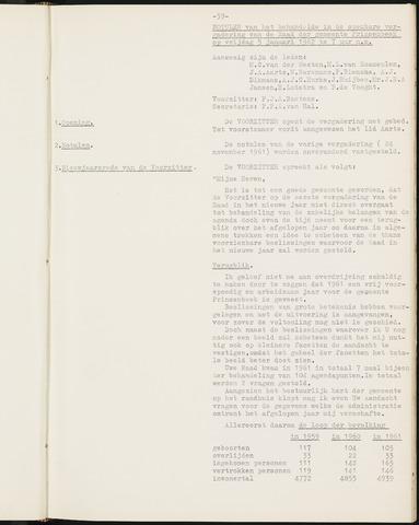 Prinsenbeek - Notulen van de gemeenteraad 1962