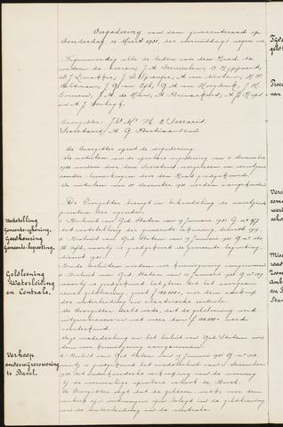 Ginneken en Bavel - Notulen van de gemeenteraad 1921-01-01