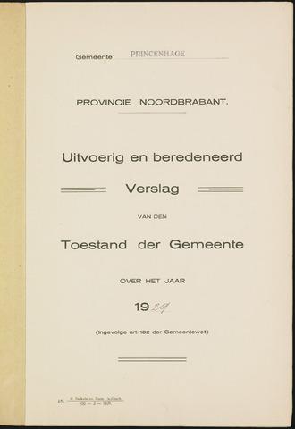 Princenhage - Verslagen van de toestand van de gemeente 1929-01-01