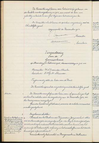 Teteringen - Notulen en bijlagen van de gemeenteraad 1955