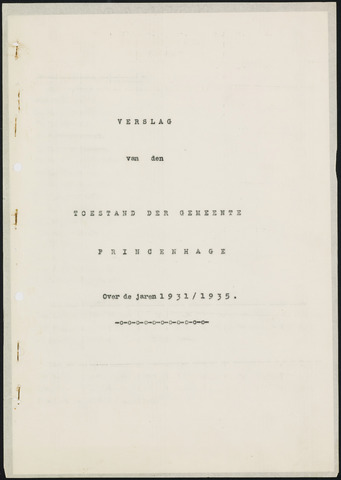 Princenhage - Verslagen van de toestand van de gemeente 1931-01-01