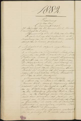 Teteringen - Notulen en bijlagen van de gemeenteraad 1882
