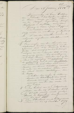 Breda - Notulen van de gemeenteraad 1880-01-01