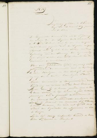 Princenhage - Notulen van de gemeenteraad 1819-01-01