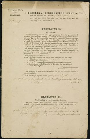 Teteringen - Verslagen van de toestand van de gemeente 1865