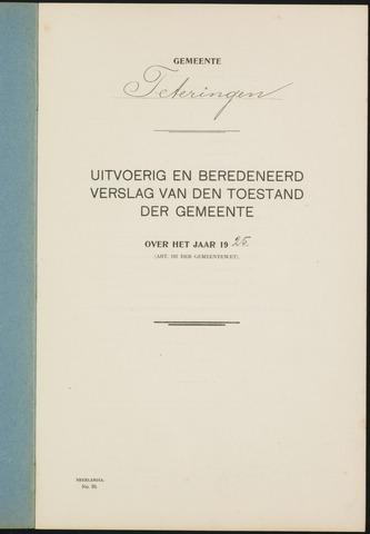 Teteringen - Verslagen van de toestand van de gemeente 1925