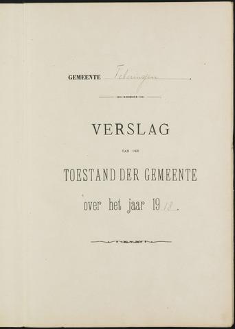 Teteringen - Verslagen van de toestand van de gemeente 1918