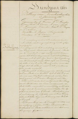 Ginneken en Bavel - Notulen van de gemeenteraad 1861-01-01