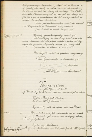 Teteringen - Notulen en bijlagen van de gemeenteraad 1936