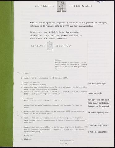 Teteringen - Notulen en bijlagen van de gemeenteraad 1978