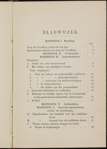 Breda - Verslagen van de toestand van de gemeente 1885