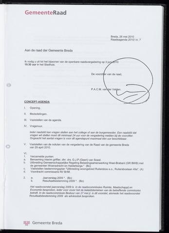 Breda - Bijlagen bij de notulen van de gemeenteraad 2010-06-03