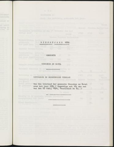 Ginneken en Bavel - Verslagen van de toestand van de gemeente 1880