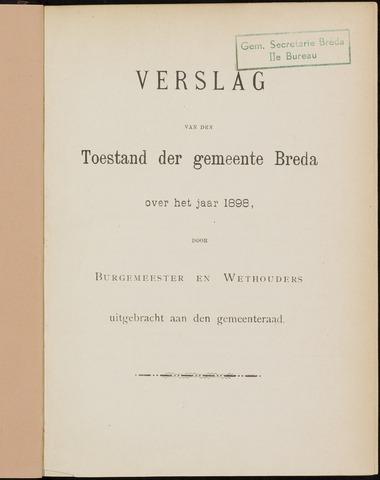 Breda - Verslagen van de toestand van de gemeente 1898
