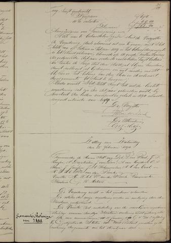 Ginneken en Bavel - Notulen van de gemeenteraad 1890-01-01