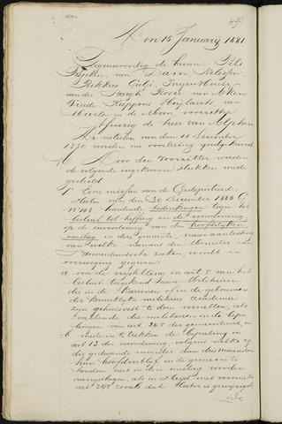 Breda - Notulen van de gemeenteraad 1881-01-01