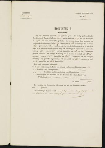 Teteringen - Verslagen van de toestand van de gemeente 1855