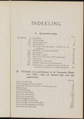 Breda - Verslagen van de toestand van de gemeente 1924