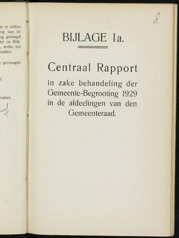 Breda - Bijlagen bij de notulen van de gemeenteraad 1929