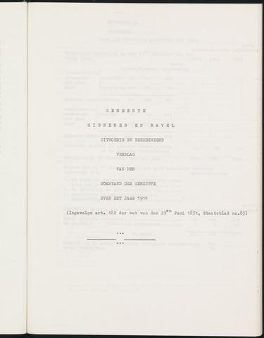 Ginneken en Bavel - Verslagen van de toestand van de gemeente 1914-01-01