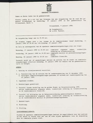 Prinsenbeek - Notulen van de gemeenteraad 1990