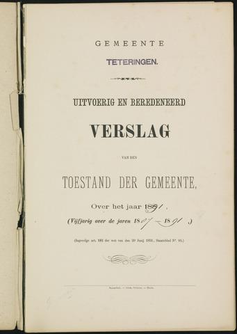 Teteringen - Verslagen van de toestand van de gemeente 1891
