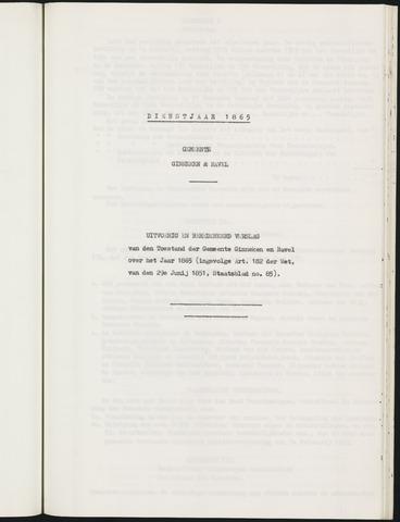 Ginneken en Bavel - Verslagen van de toestand van de gemeente 1865-01-01
