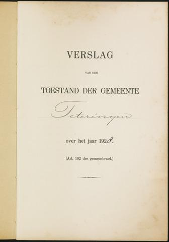 Teteringen - Verslagen van de toestand van de gemeente 1928