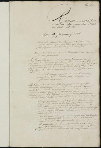 Breda - Notulen van de gemeenteraad 1831-01-01