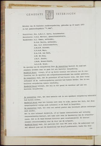 Teteringen - Notulen en bijlagen van de gemeenteraad 1977