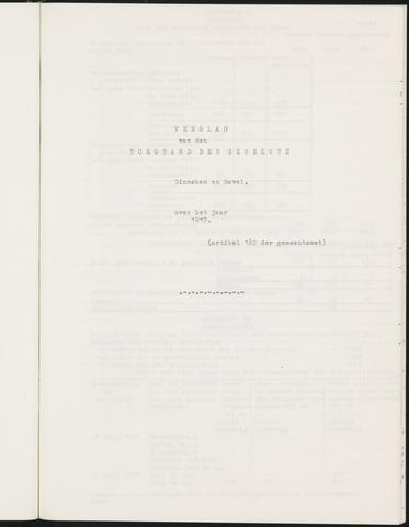 Ginneken en Bavel - Verslagen van de toestand van de gemeente 1917