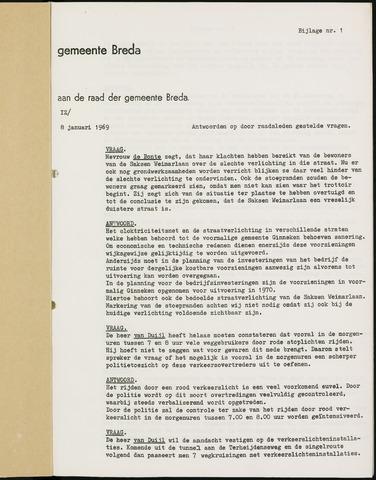 Breda - Bijlagen bij de notulen van de gemeenteraad 1969-01-01