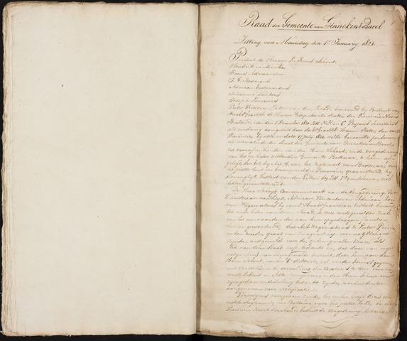 Ginneken en Bavel - Notulen van de gemeenteraad 1821-01-01