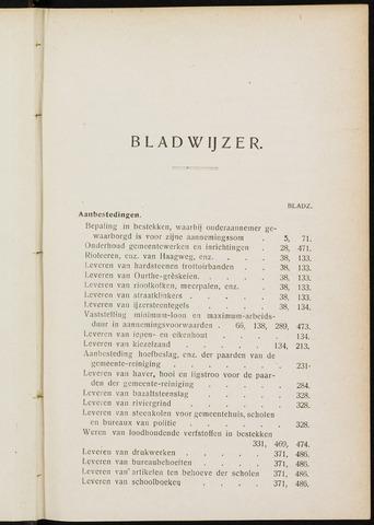Breda - Indexen op de notulen van de gemeenteraad 1907