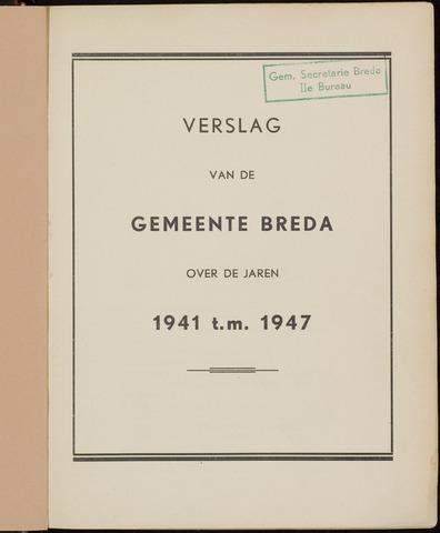 Breda - Verslagen van de toestand van de gemeente 1941-01-01