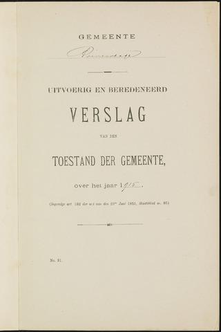Princenhage - Verslagen van de toestand van de gemeente 1915-01-01