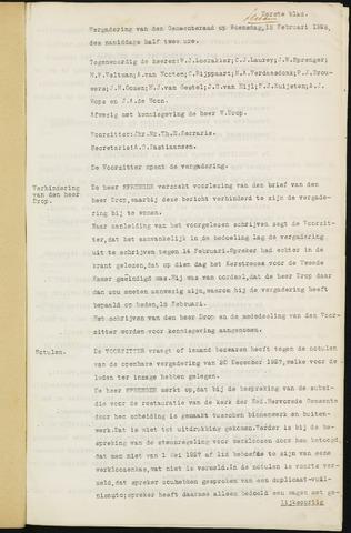 Ginneken en Bavel - Notulen van de gemeenteraad 1928-01-01
