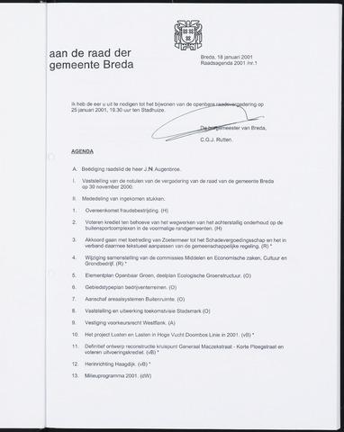 Breda - Bijlagen bij de notulen van de gemeenteraad 2001