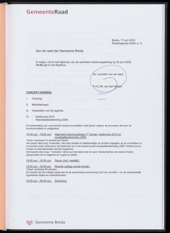 Breda - Bijlagen bij de notulen van de gemeenteraad 2009-06-25