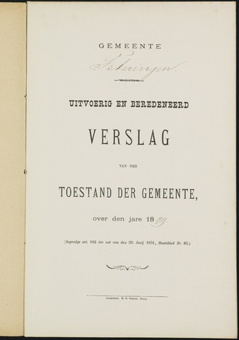 Teteringen - Verslagen van de toestand van de gemeente 1879