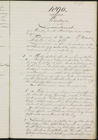 Teteringen - Notulen en bijlagen van de gemeenteraad 1890-01-01