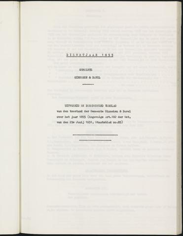 Ginneken en Bavel - Verslagen van de toestand van de gemeente 1855