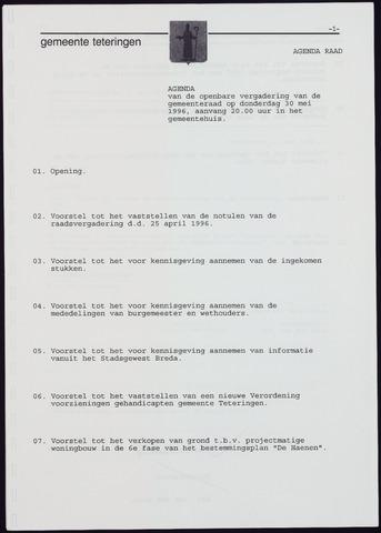 Teteringen - Notulen en bijlagen van de gemeenteraad 1996-05-30