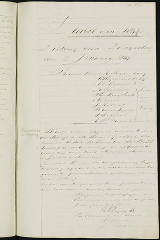 Ginneken en Bavel - Notulen van de gemeenteraad 1844-01-01