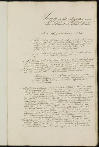 Breda - Notulen van de gemeenteraad 1845
