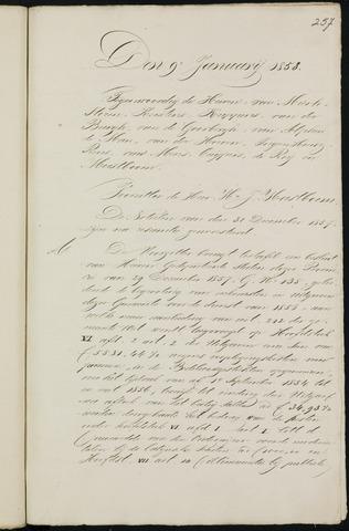 Breda - Notulen van de gemeenteraad 1858